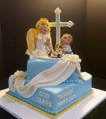 baptism boy with angel cakecentral com