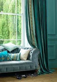 Peacock Blue Sheer Curtains Peacock Color Drapes Peacock Color Sheer Curtains Peacock