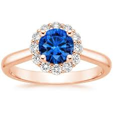 lotus flower engagement ring sapphire lotus flower diamond ring 1 3 ct tw in 14k gold