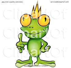clipart of a cartoon frog punk with a yellow mohawk giving a