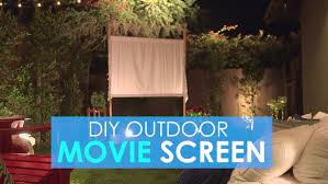 How To Make A Backyard Movie Screen by How To Make An Easy Outdoor Movie Screen Hgtv