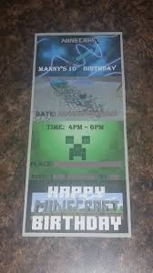 14 best minecraft invitations images on pinterest birthday party