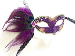 feather mask purple feather mask with diamonds masquerade mask