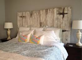 barn door side table barn door headboard for sale brown shade table l on wooden bed
