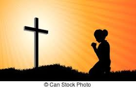 prayer beautiful praying with cross eps vectors