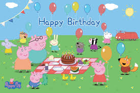 peppa pig birthday puzzle place peppa pig family happy birthday