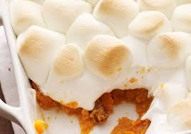 sweet potato casserole with marshmallow topping of kosher