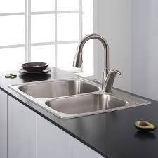 Double Bowl Stainless Steel Kitchen Sink Simple Kitchen Sink Ideas 7376 Baytownkitchen