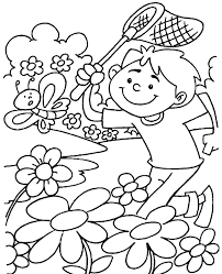 spring colouring sheet 27 print color free