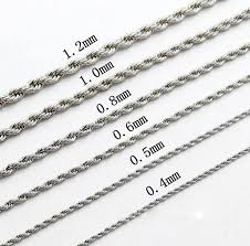 stainless chain link necklace images 20inch stainless steel rope chain link necklace for men ladies jpg