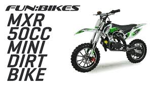 motocross bike makes funbikes mxr 50cc 61cm green mini dirt bike youtube