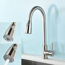 kitchen faucet amazon vapsint modern stainless steel single handle single pull out