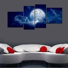 hd canvas print home decor wall art painting picture large moon