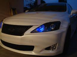 2008 lexus is250 yellow fog lights dark blue parking lights and blacked out headlight housings pics