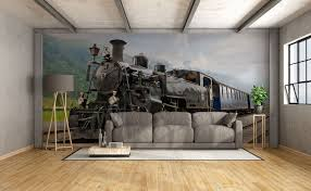 murals by category means of transport wall mural myloview com go to the product black train wall mural