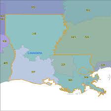 Map Of Area Codes Louisiana Area Code Maps Louisiana Telephone Area Code Maps Free