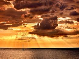 oceans beautiful sky lovely sailing boat rays nature sailboats