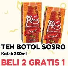 Teh Kotak Sosro 330ml promo harga teh kotak kacang kriuuk terbaru hemat id