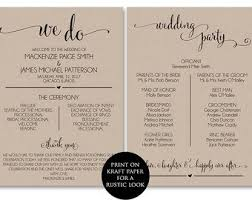 rustic wedding program template free downloadable wedding program template that can be printed