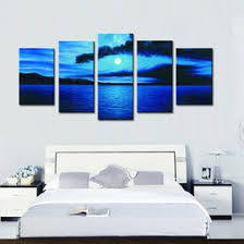 discount oil painting sea blue landscape 2017 oil painting sea