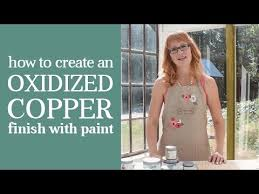 how to create a faux oxidized copper finish with country chic