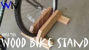 how to build a wood bike stand youtube
