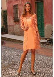 orange dress strapless knee length orange lace sheath column of the