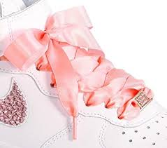 ribbon shoe laces pink flat shoelaces shoe laces for kids youths