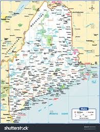 Map Maine Maine State Map Stock Vector 88089988 Shutterstock