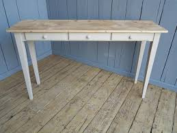Farmhouse Console Table Reclaimed Pine Scrub Top Farmhouse Console Tables