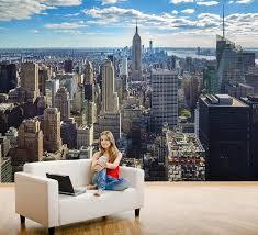 Skyline Wallpaper Bedroom New York Skyline Empire State Building Manhattan Decorating