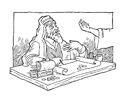jesus calls matthew coloring page in the tax collector coloring