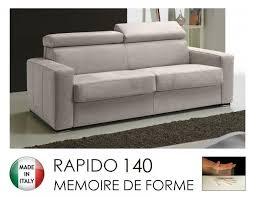 canapé rapido canape rapido sidney memory matelas 140 14 190 cm memoire de forme