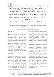 Sedimentology And Geochemical Evaluation Of Sedimentology And Geochemical Pdf Available