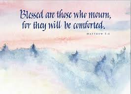 sympathy card blessed are those who mourn sympathy card of