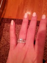 engagement ring etiquette diamonds in wedding band are lower quality than engagement ring