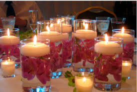 candle arrangements beautiful candle arrangements for wedding reception