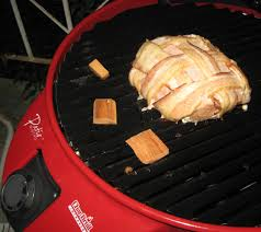 Patio Bistro Grill Barbecue Master Bacon Weave Pork Loin On Electric Patio Bistro By