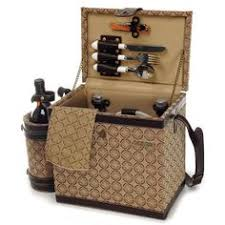 Picnic Basket Set For 2 Details About The Couture Gold Deluxe Collection Bbq Camping