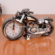 motorcycle alarm clock desk clock motorbike model craft birthday