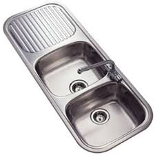 Fitmykitchen Reginox Rls Regent  Double Sink And Drainer - Kitchen sink double bowl double drainer