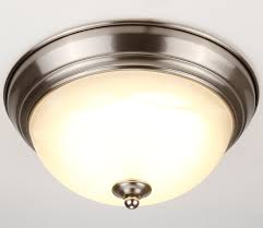 dimmable 11 inch led flush mount ceiling light fixture 15w 80w