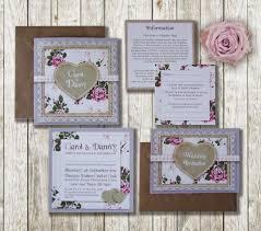 knots and kisses wedding stationery lilac u0026 pink vintage