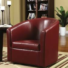 swivel accent chairs for living room living room barrel style red upholstered swivel accent chair
