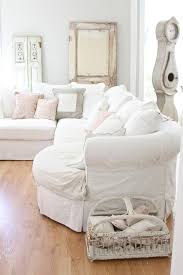 Cottage Chic Slipcovers by Shabby Chic Slipcovers Family Room Shabby Chic Style With Cafe