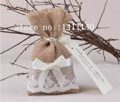 burlap wedding favor bags free shipping lace decor small burlap bags with drawstring wedding