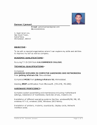 professional resume word template sle resume for freshers in word format new