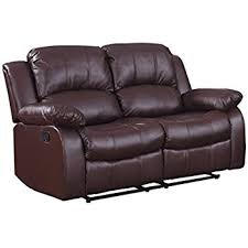 amazon com homelegance double reclining loveseat brown bonded