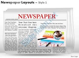 newspaper theme for ppt newspaper layouts style 1 powerpoint presentation slides