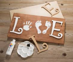 this easy and sweet love sign made with a child u0027s handprints and